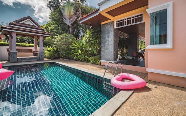 班海口15三卧别墅别墅泳池私家三卧出售芒果树塞源泳池图片